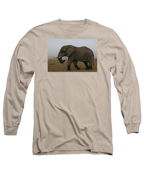 Long Sleeve T-Shirt featuring the photograph King Of The Savannah by Gary Hall