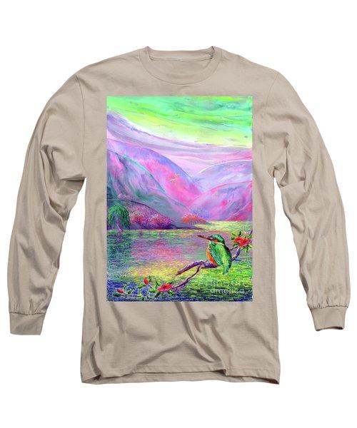 Kingfisher, Shimmering Streams Long Sleeve T-Shirt