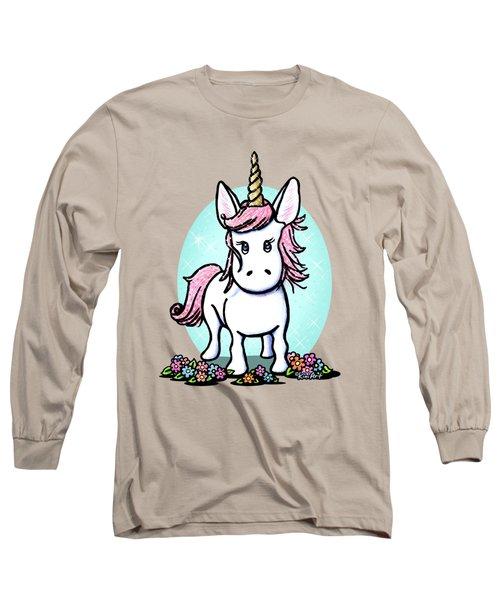 Kiniart Unicorn Sparkle Long Sleeve T-Shirt by Kim Niles