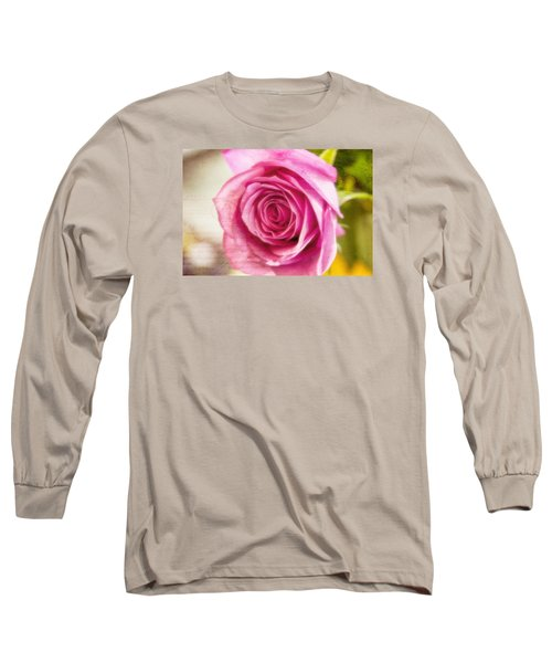 Long Sleeve T-Shirt featuring the photograph Kissed With Pink by Joan Bertucci