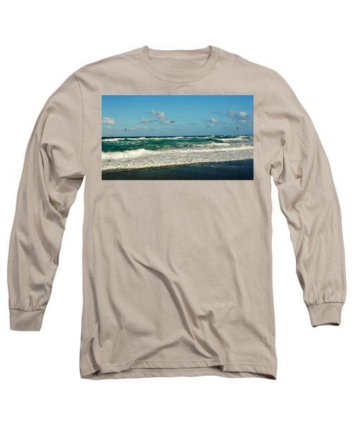 Kite Surfing Long Sleeve T-Shirt by John Wartman