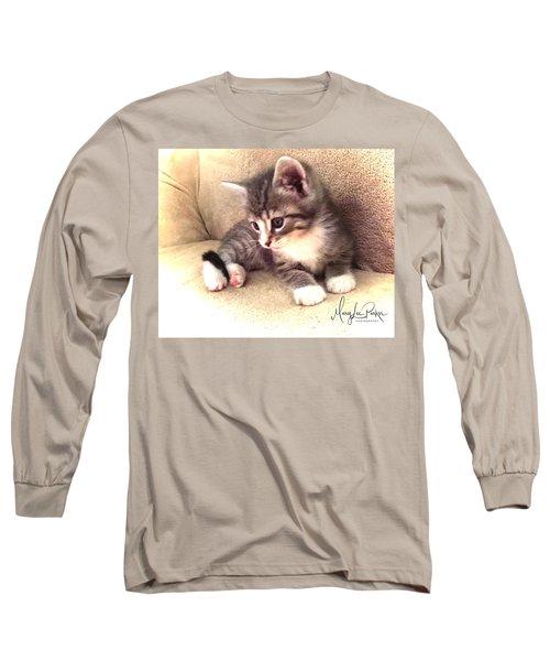 Kitten Deep In Thought Long Sleeve T-Shirt