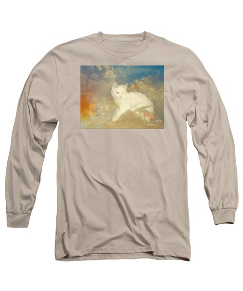 Kitty Art Precious By Sherriofpalmsprings Long Sleeve T-Shirt by Sherri's Of Palm Springs