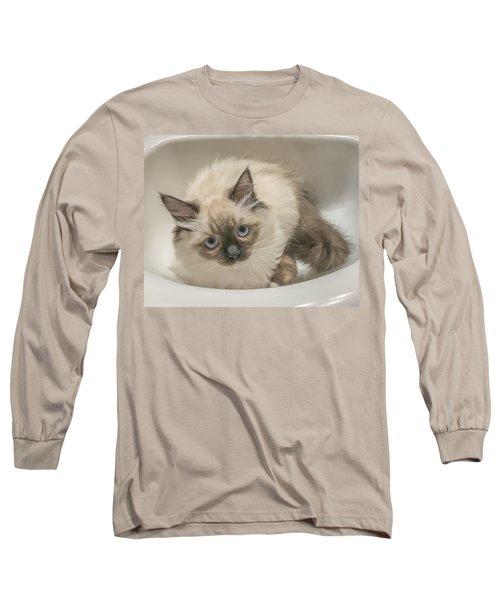 Kitty Blue Eyes Long Sleeve T-Shirt
