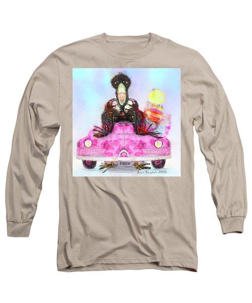 Kitty Car Crow Long Sleeve T-Shirt