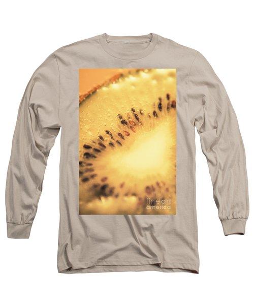 Kiwi Margarita Details Long Sleeve T-Shirt by Jorgo Photography - Wall Art Gallery