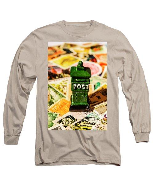 Kiwi Postage Scene Long Sleeve T-Shirt