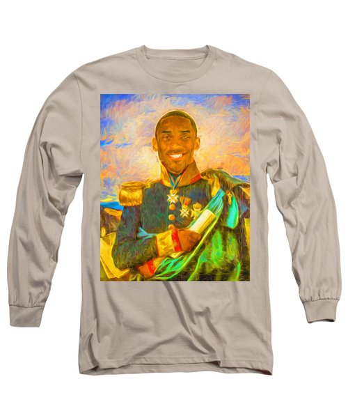 Kobe Bryant Floor General Digital Painting La Lakers Long Sleeve T-Shirt