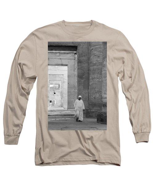 Kom Ombo Temple Long Sleeve T-Shirt by Silvia Bruno
