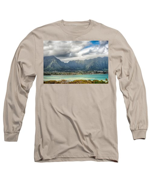 Ko'olau And H-3 In Color Long Sleeve T-Shirt