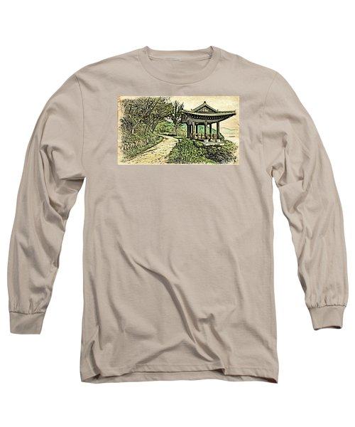 Korean Architecture Long Sleeve T-Shirt