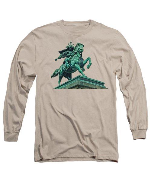 Kusunoki Masashige Close Up Long Sleeve T-Shirt by Scott Carruthers