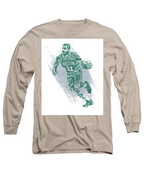 Kyrie Irving Boston Celtics Water Color Art 2 Long Sleeve T-Shirt