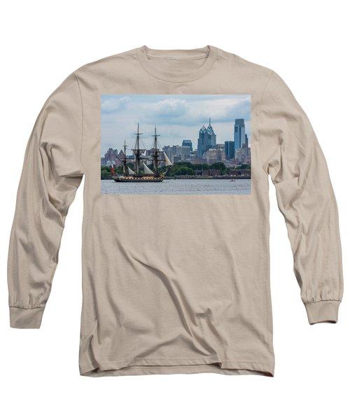 L Hermione Philadelphia Skyline Long Sleeve T-Shirt