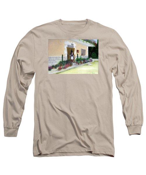 La Casa De Nonna Loreta Long Sleeve T-Shirt by Albert Puskaric