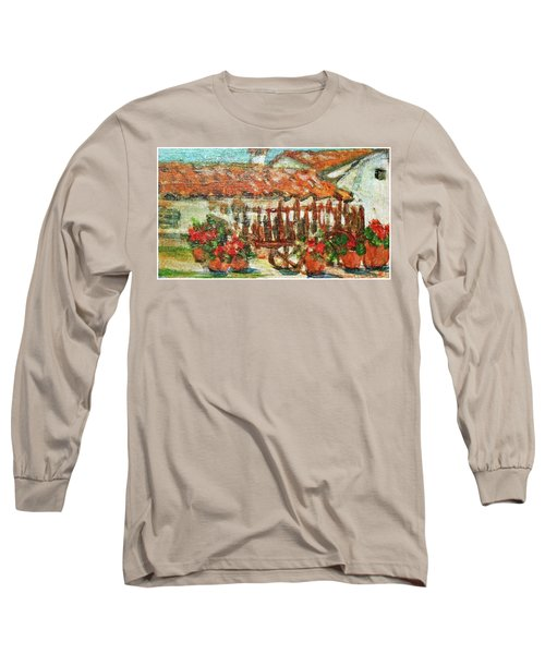 Long Sleeve T-Shirt featuring the painting La Mancha by Mindy Newman
