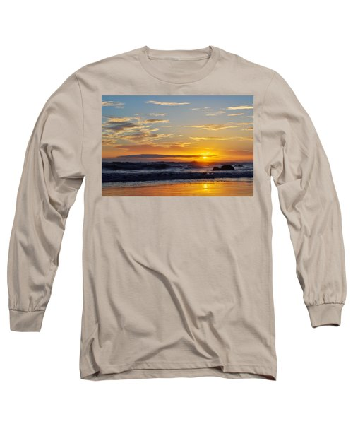 Long Sleeve T-Shirt featuring the photograph La Piedra Sunset Malibu by Kyle Hanson