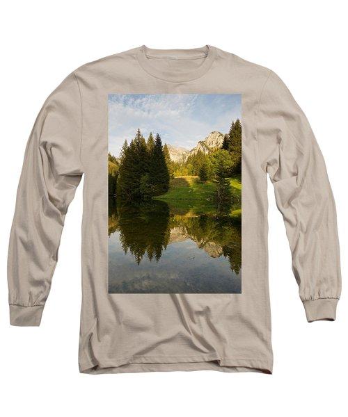 Lac De Fontaine Reflections Long Sleeve T-Shirt