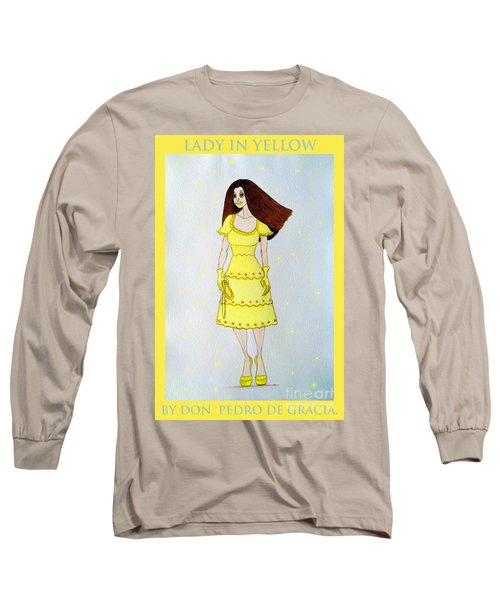 Lady In Yellow Long Sleeve T-Shirt by Don Pedro De Gracia