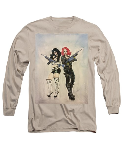 Lady Punisher And Black Widow Long Sleeve T-Shirt