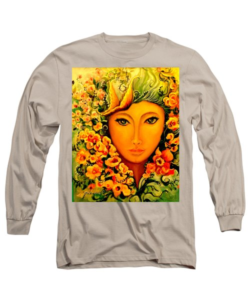 Lady Sring Long Sleeve T-Shirt by Yolanda Rodriguez