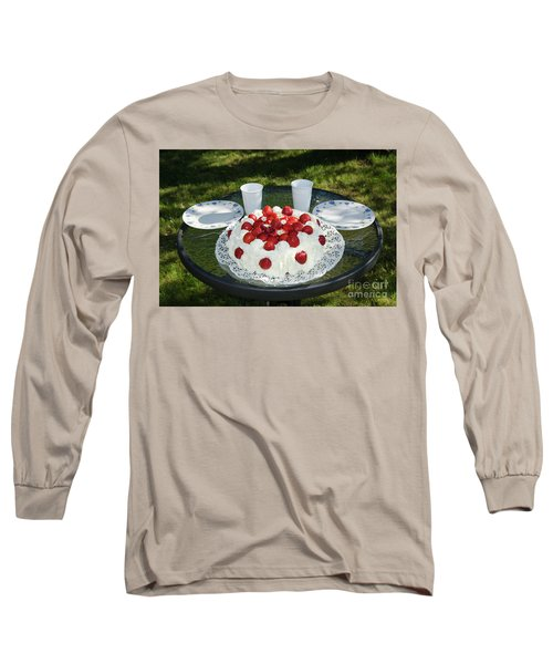 Long Sleeve T-Shirt featuring the photograph Laid Summer Table by Kennerth and Birgitta Kullman
