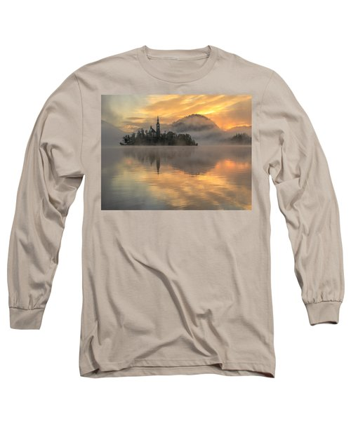 Lake Bled Sunrise Slovenia Long Sleeve T-Shirt