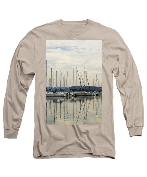Lake Guntersville Alabama Sailboat Harbor Long Sleeve T-Shirt by Kathy Clark