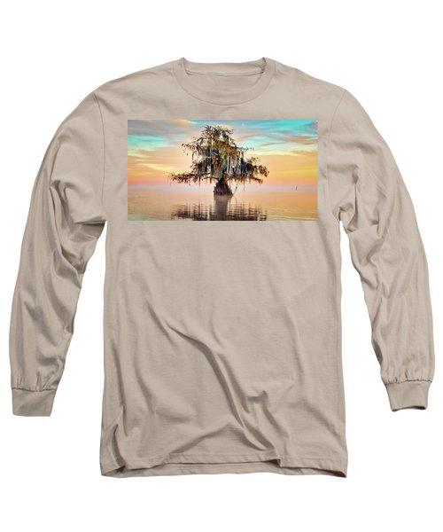 Lake Maurepas In Pastels Long Sleeve T-Shirt