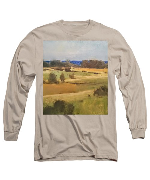 Lake Michigan Across The Field Long Sleeve T-Shirt