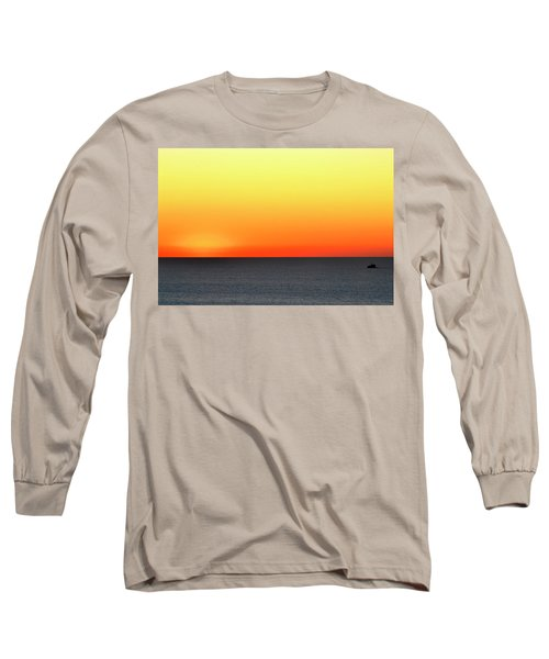 Long Sleeve T-Shirt featuring the photograph Lake Michigan Sunrise by Zawhaus Photography