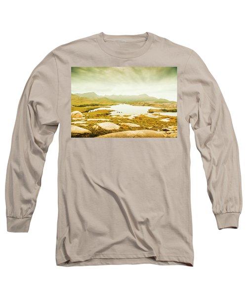 Lake On A Mountain Long Sleeve T-Shirt