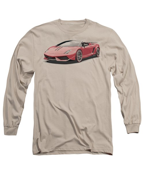 Lamborghini Gallardo - Parallel Hatching Long Sleeve T-Shirt