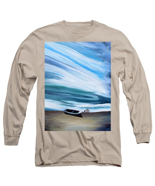 Land Meets Sky Long Sleeve T-Shirt by Marilyn  McNish