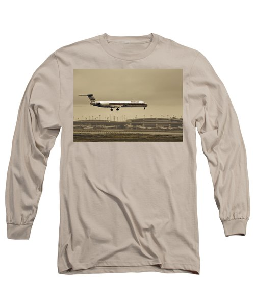 Landing At Dfw Airport Long Sleeve T-Shirt