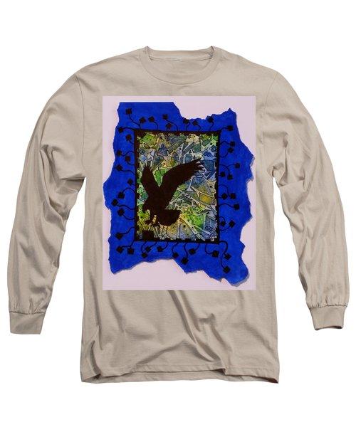 Landing Eagle Silhouette Long Sleeve T-Shirt
