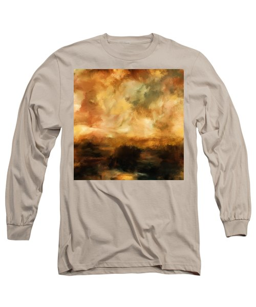 Landscape At Sunset Long Sleeve T-Shirt