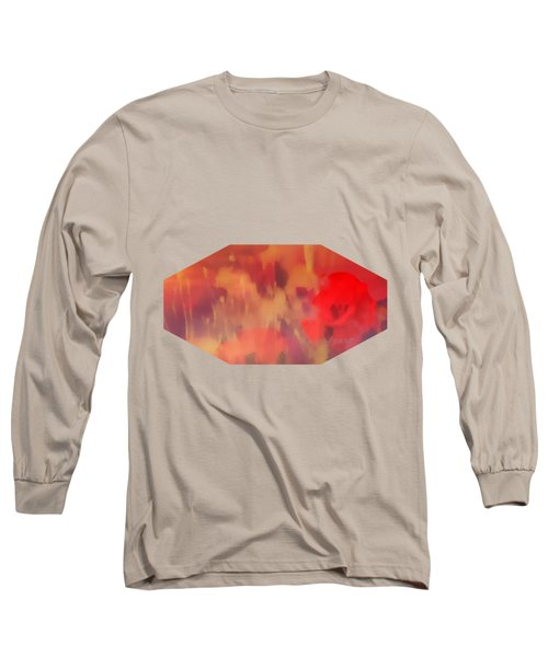 Landscape Of Dreaming Poppies Long Sleeve T-Shirt
