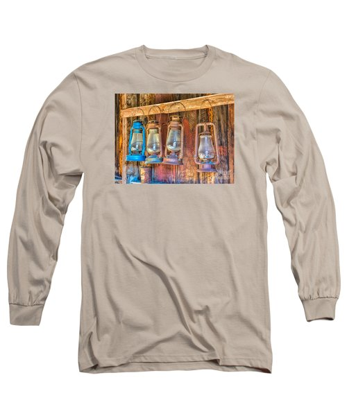 Lanterns In The Bodie Firehouse Long Sleeve T-Shirt