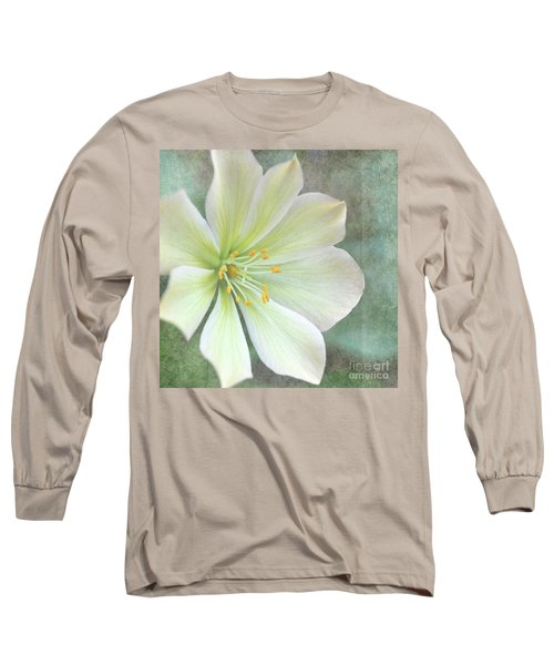 Long Sleeve T-Shirt featuring the pyrography Large Flower by Lyn Randle