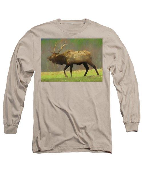 Large Pennsylvania Bull Elk. Long Sleeve T-Shirt