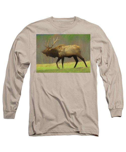 Large Pennsylvania Bull Elk. Long Sleeve T-Shirt
