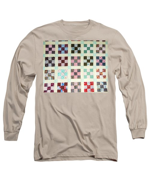 Large Quilt Long Sleeve T-Shirt