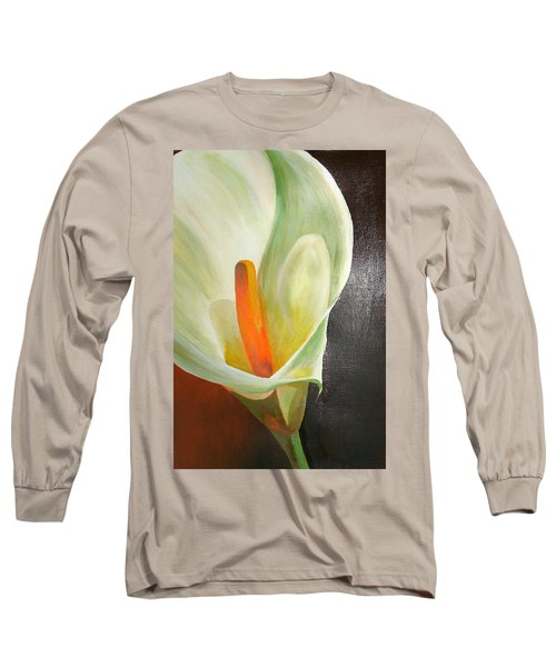 Large White Calla Long Sleeve T-Shirt