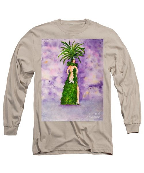 Long Sleeve T-Shirt featuring the painting Las Vegas Show Girl by Vicki  Housel