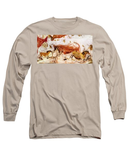 Lascaux Cow And Horses Long Sleeve T-Shirt