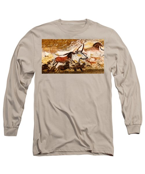 Lascaux Hall Of The Bulls - Horses And Aurochs Long Sleeve T-Shirt