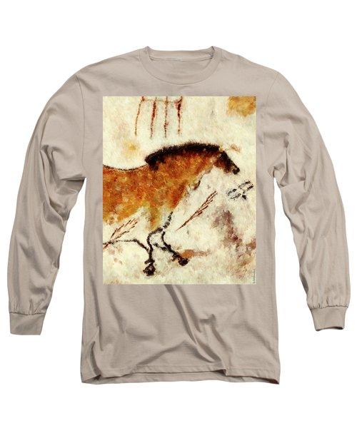 Lascaux Prehistoric Horse Detail Long Sleeve T-Shirt