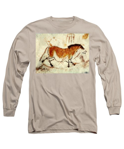 Lascaux Prehistoric Horse Long Sleeve T-Shirt