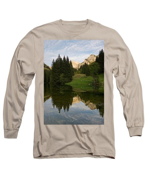 Last Light At Lac De Fontaine Long Sleeve T-Shirt